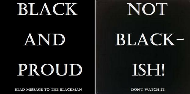 BLACK VS. BLACKISH