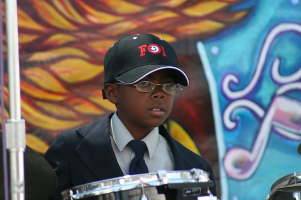 HAKIM ON THE DRUMS CLOSEUP